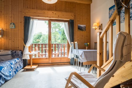 Appartement met 2 slaapkamers & garage in Chatel - Châtel - Lägenhet