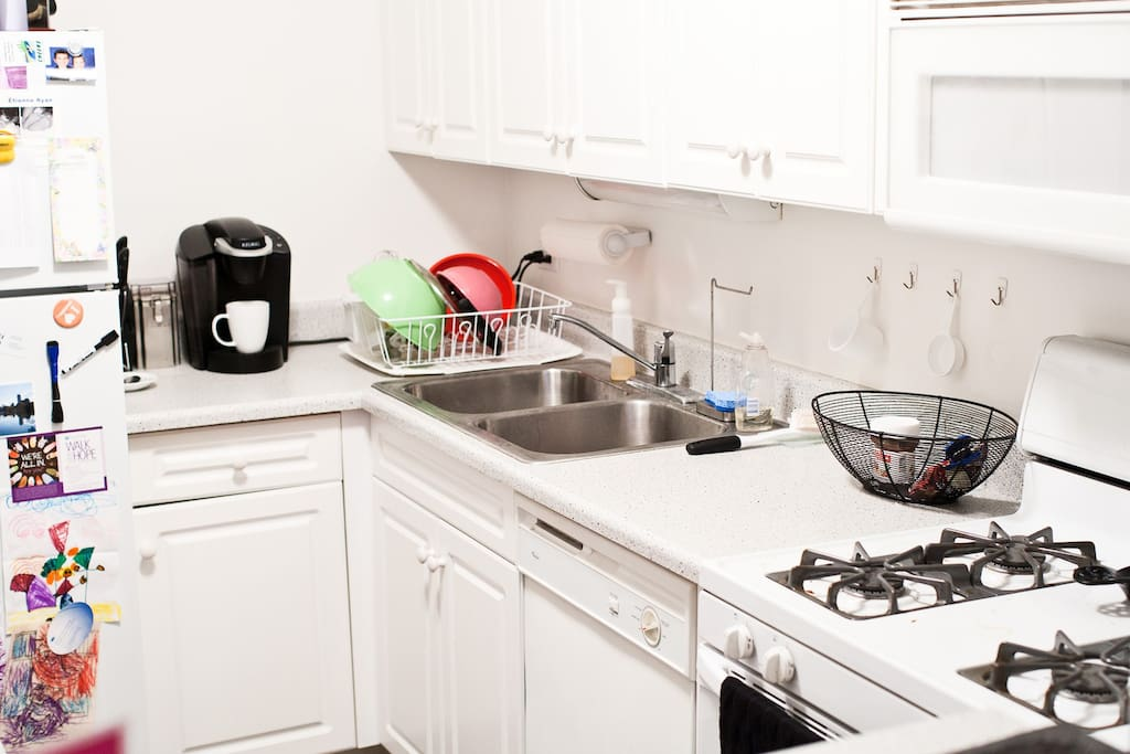 Access to all kitchen appliances including Keurig and SodaStream