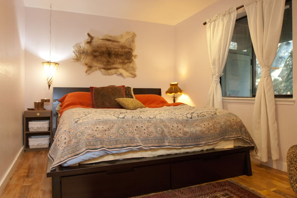 comfy california king bed with down comforter