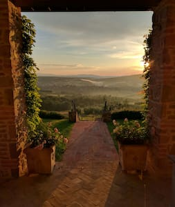 Amazing view over an Umbria valley - Piegaro