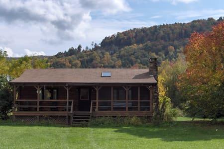 Catskill Mountain Riverside Cabin - Kabin