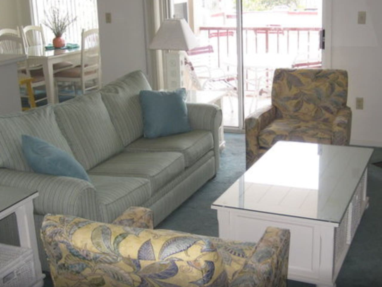 Living room and dining room are recently renovated.  Plus there's a queen sleeper sofs