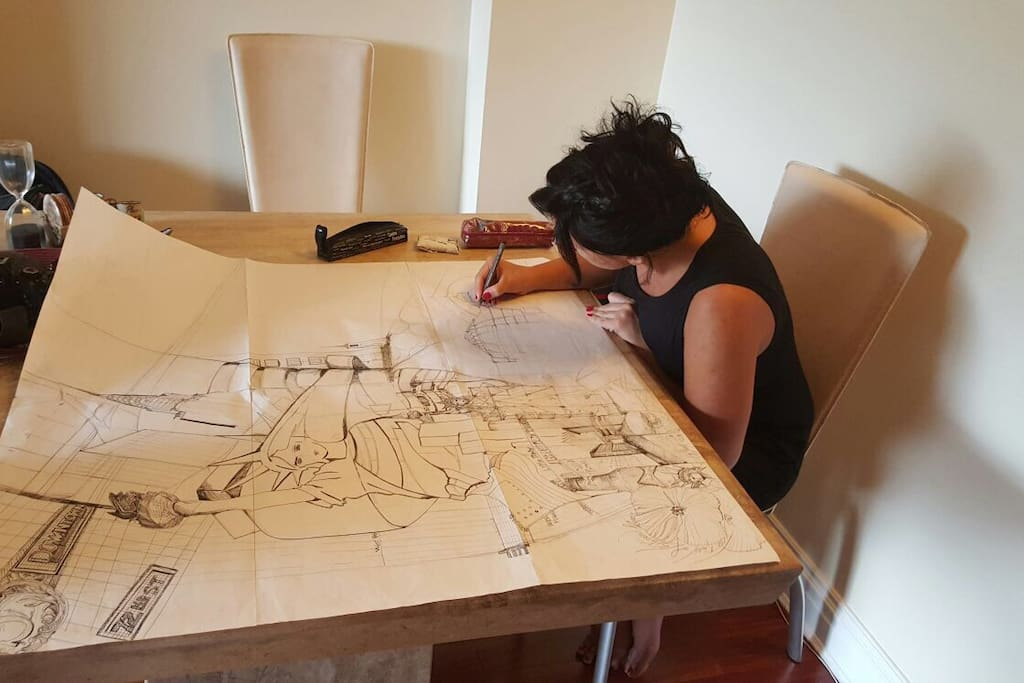 I am an architect, an Artist I spend my time drawing and designing ! I hope you Will enjoy the athmosphere of my house I am not an hotel :)