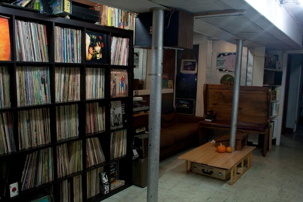 Living room... My record collection may strike fear and envy in the hearts of audiophiles!
