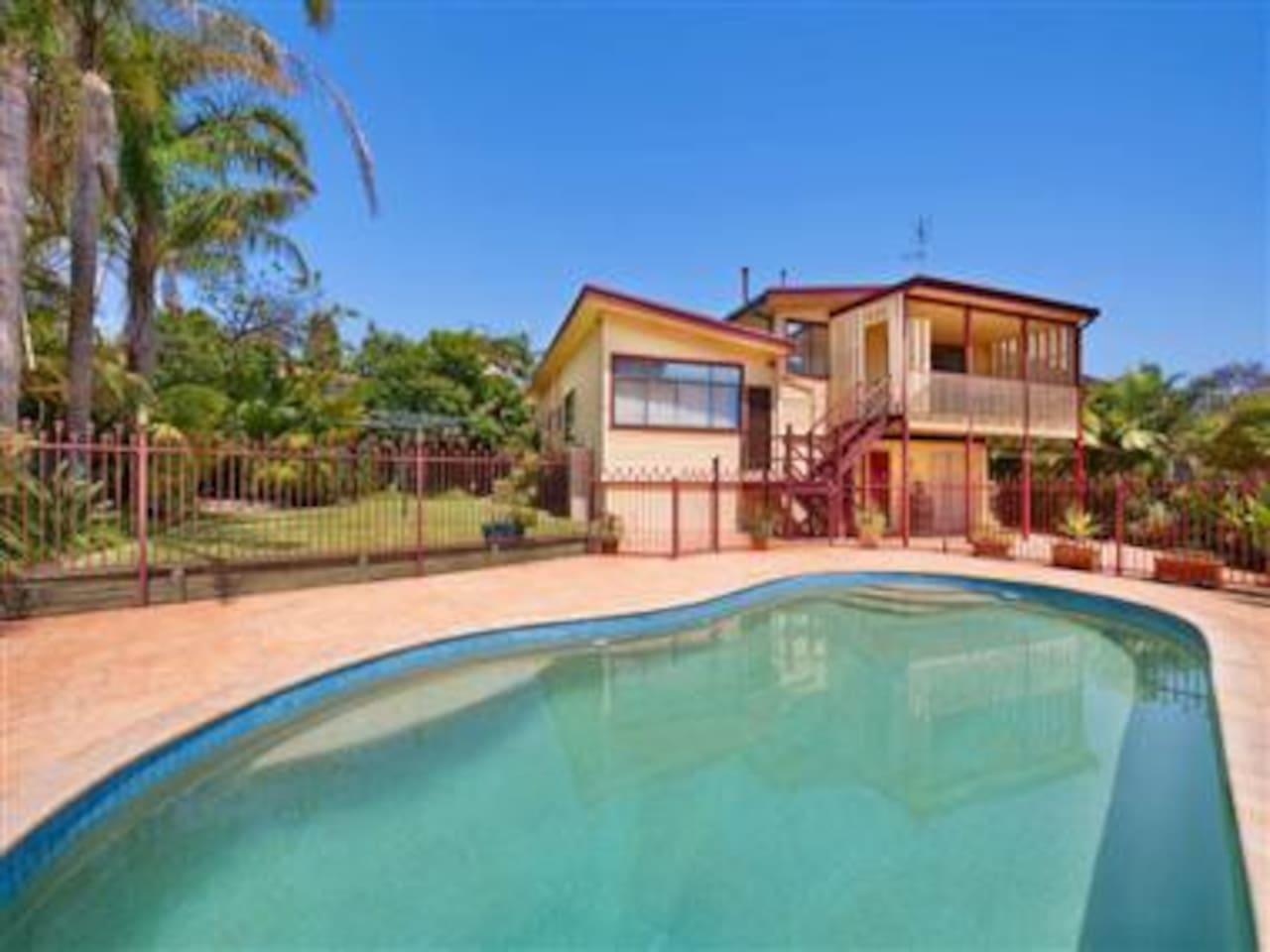Beautiful tropical pool, gardens and entertaining areas