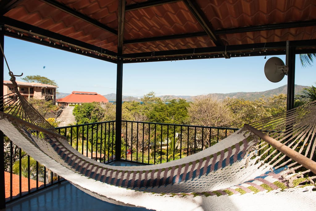 Relax in the hammock, admire the view or watch for wildlife from the tower patio