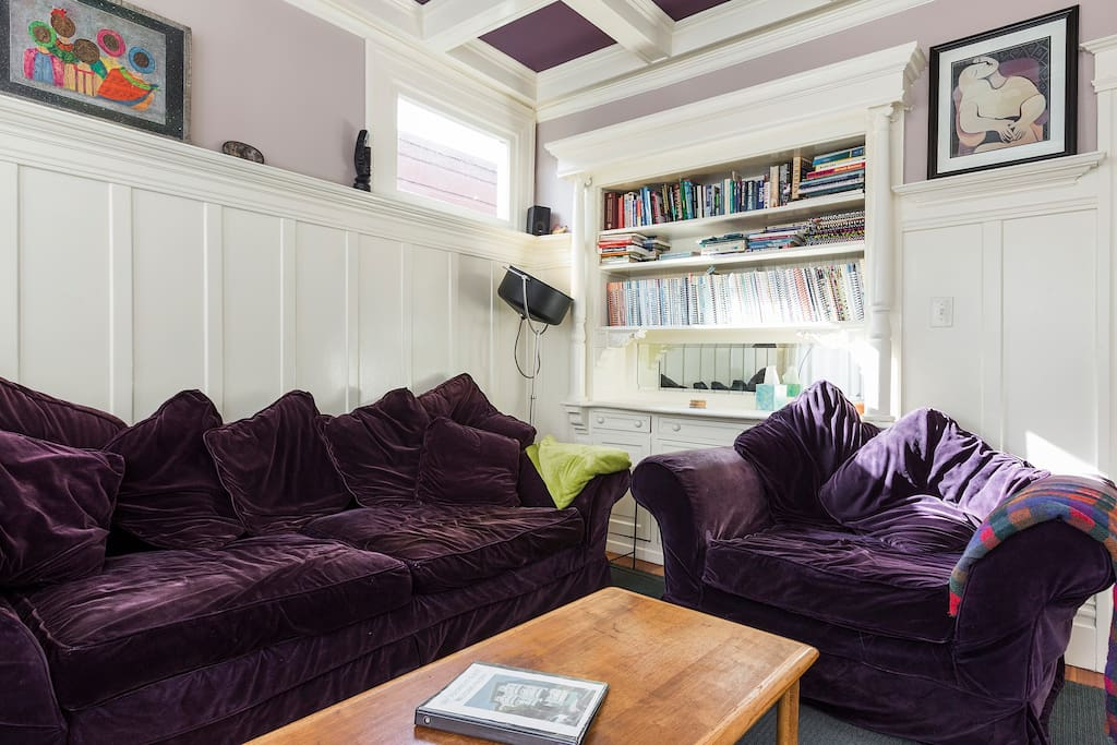 Cozy comfy couches to relax and plan your next day, or watch TV