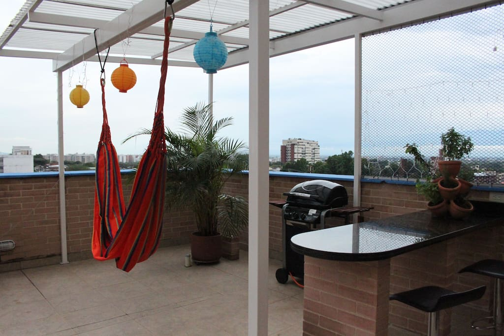 You will easily spend hours out here cooking for your family, or reading in the hammock
