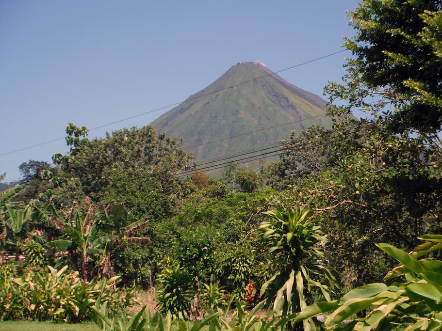 View of Arenal Volcano from Cabians La Catarata