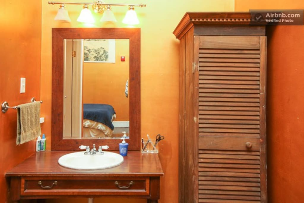 Vanity and armoire