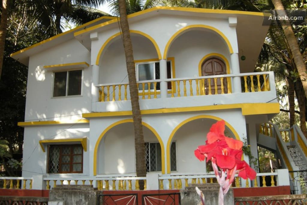 Photo shows front view of our guesthouse