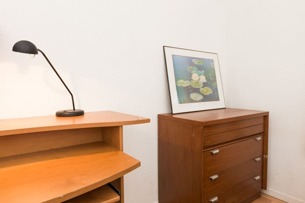Large desk and chest of drawers