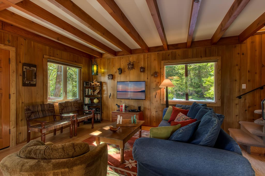 Enjoy the forested views from all the windows