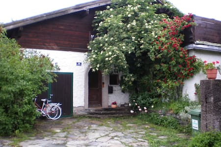 Our spacious house in Zell am See has a big fenced garden, an indoor fireplace and many amenities. It lies in a quiet street close to ski piste (10min walk) and lake (5min by car, 10min by bicycle) as well as shops and supermarkets (5min walk).