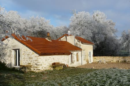 Charming Cottage 10 min from Dijon, swimming-pool - Saint-Julien - Huis