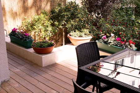 GARDEN ✿ 1BR near Gordon Beach - Tel-Aviv