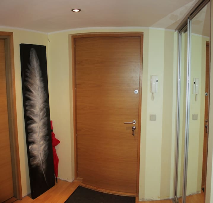 Hallway and spacious wardrobe on the right