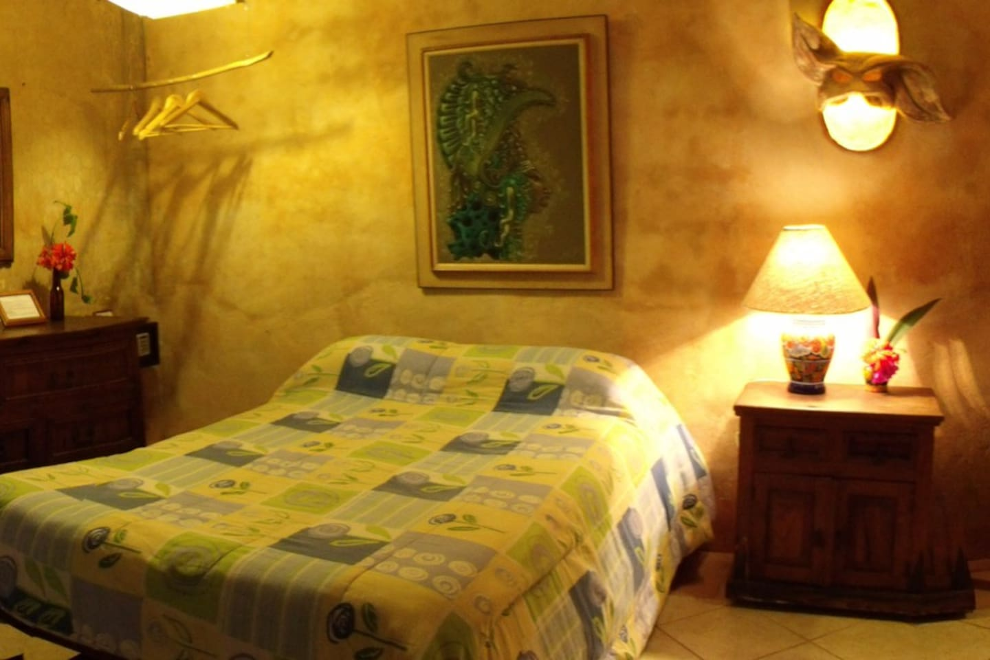 Casitas Kinsol - ww(URL HIDDEN) - Room #3 with hand made wood furniture - Comes with a full-size bed and a twin-size bed