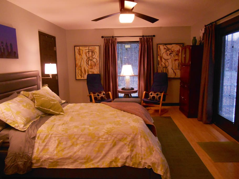 Who gets the roomy master bedroom?