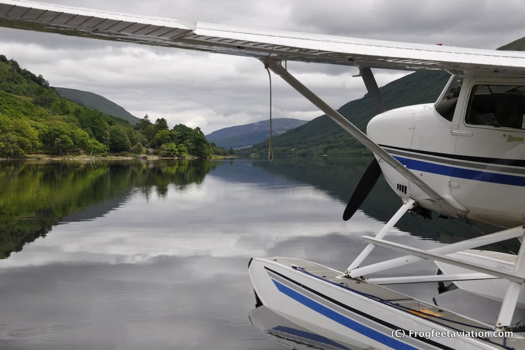 6 passenger Seaplane doubles as your floating cabing - any lake in Europe!