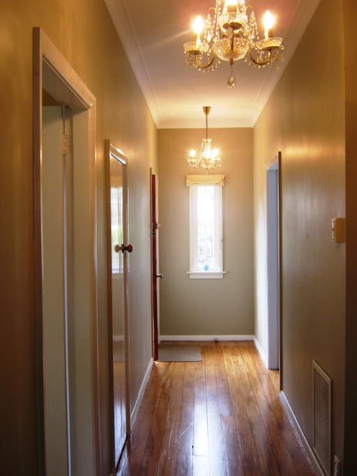 Second wing of house. Children's room, Queen room and main bathroom off this hall passage.