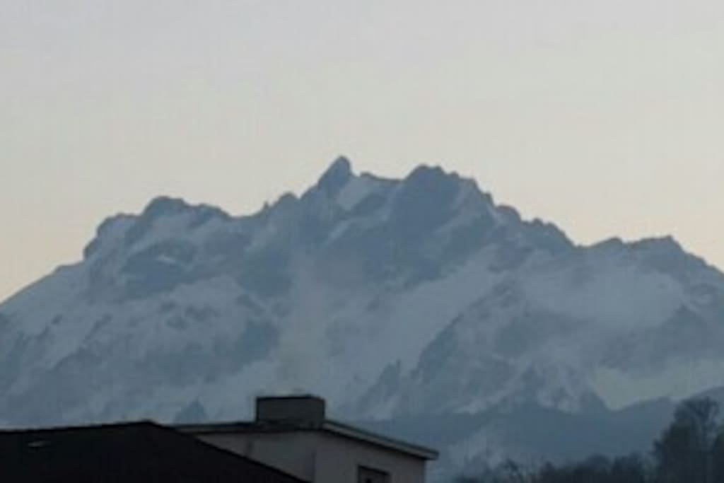 View from the balcony to mount pilatus