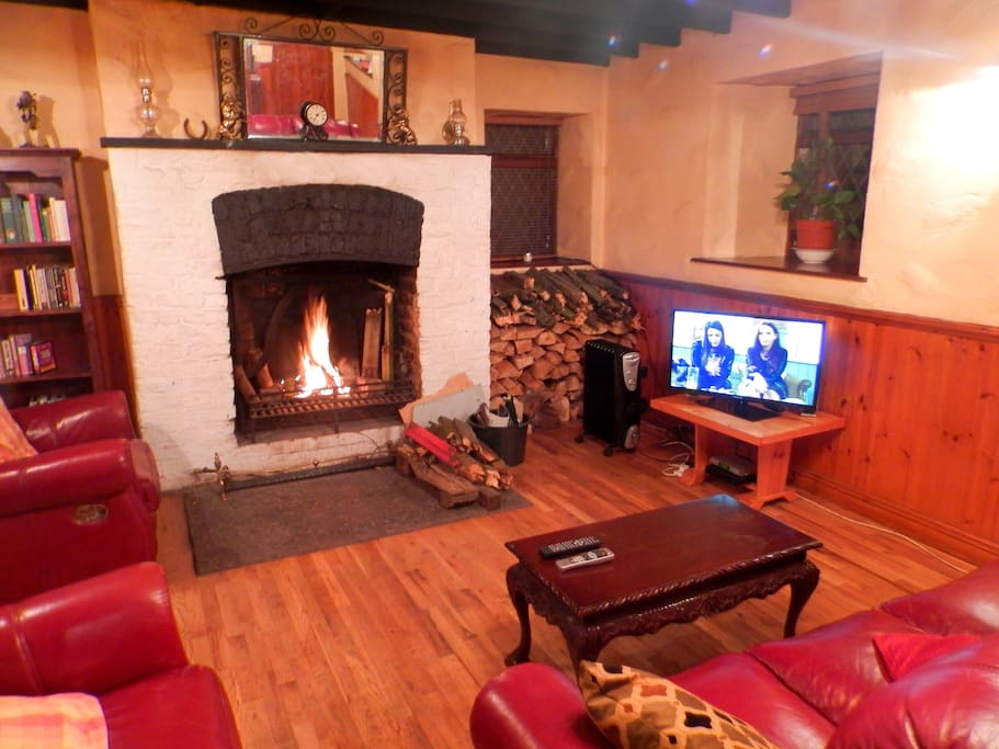 The living room in winter time