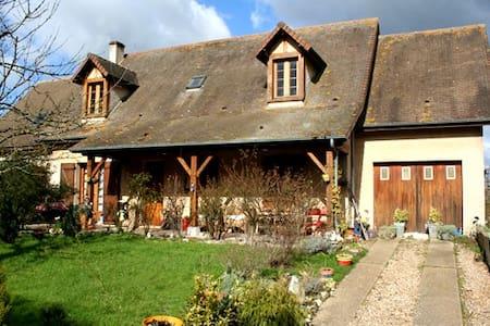 2 Belles chambres 10min de Giverny - Hus