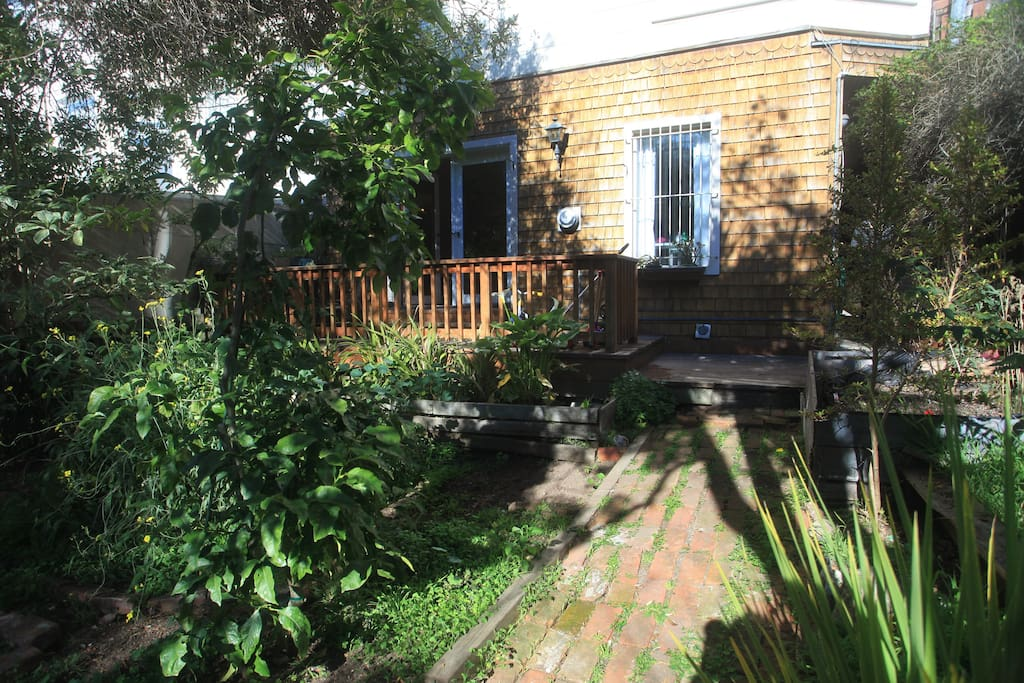 The Garden and Private Deck