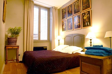 """The """"angels"""" bedroom in Vieux Lyon"""