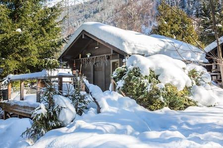 Cosy winter ski cabin