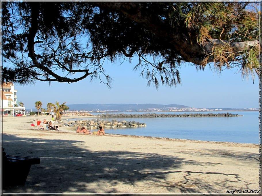 Plage du littoral a proximité ! Température de 28 degrés en mai .