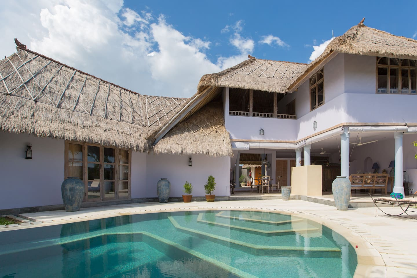 Two storey living with private pool.