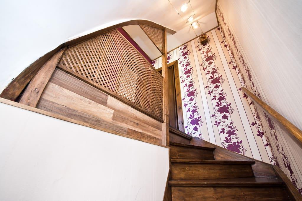 wejście po schodach na przedpokój