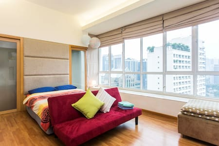 Cosy Studio 4mins to Petronas KLCC Twin Towers 5 - Kuala Lumpur - Appartement