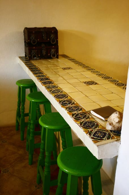 Our bar table.