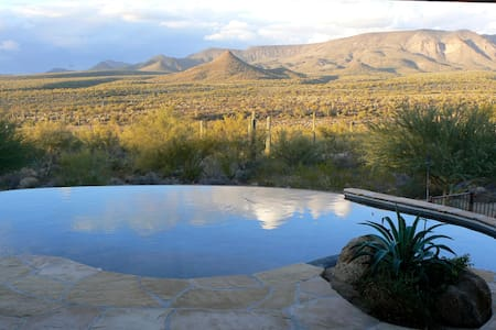 Stunning view of the Tonto National Forest hot tub - New River
