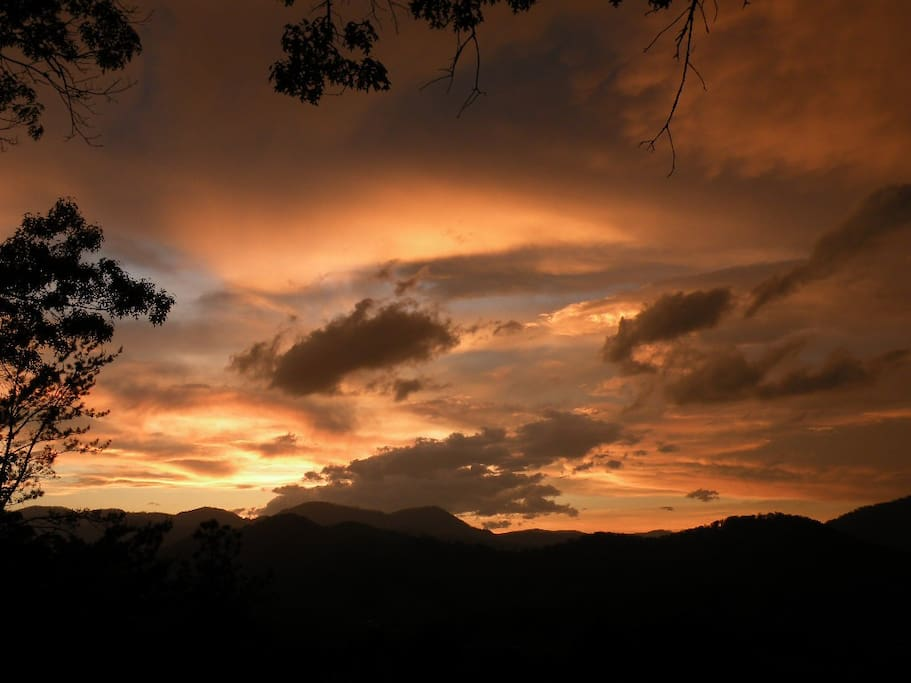 Just one of the spectacular sunsets seen from our deck