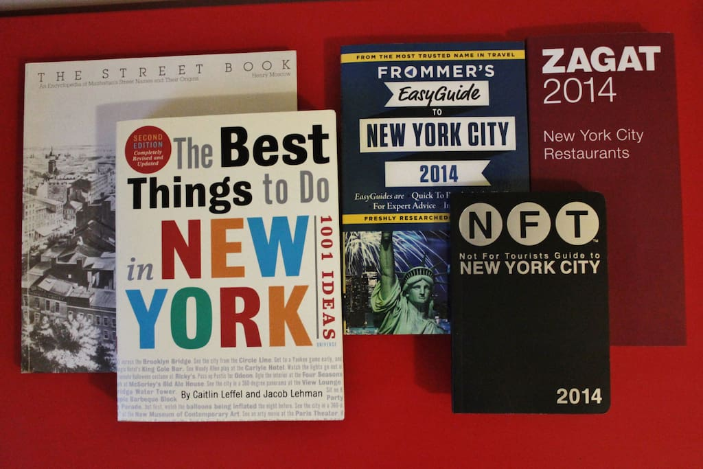 These guides to NYC  and more are in your room