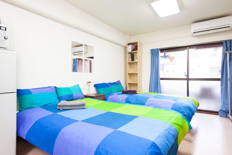 Nice bright sunny room.