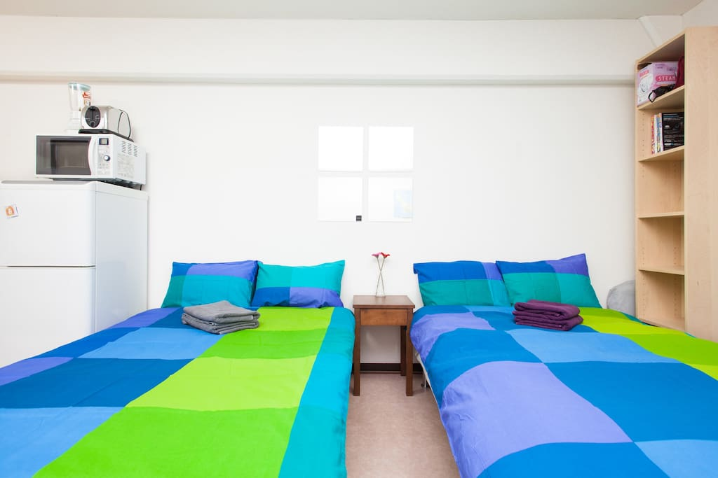 Two Semi Double Beds  120cm by 200cm.