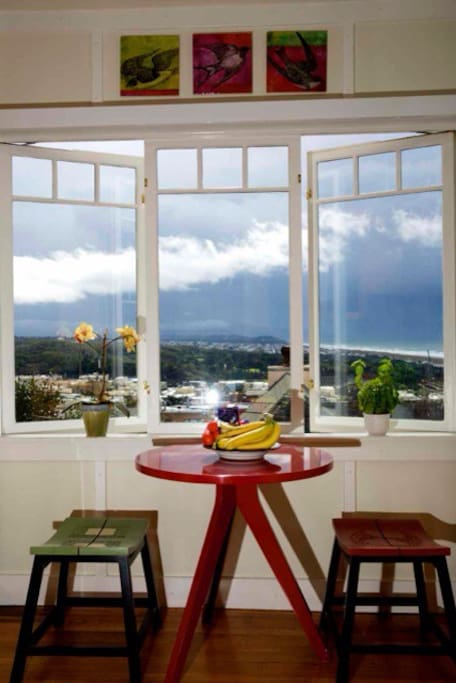 Kitchen looks over The whole of Ocean Beach and Golden Gate Park.