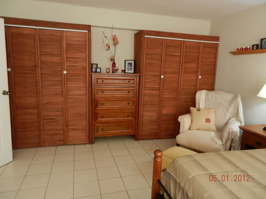 The Master Bedroom Closets...