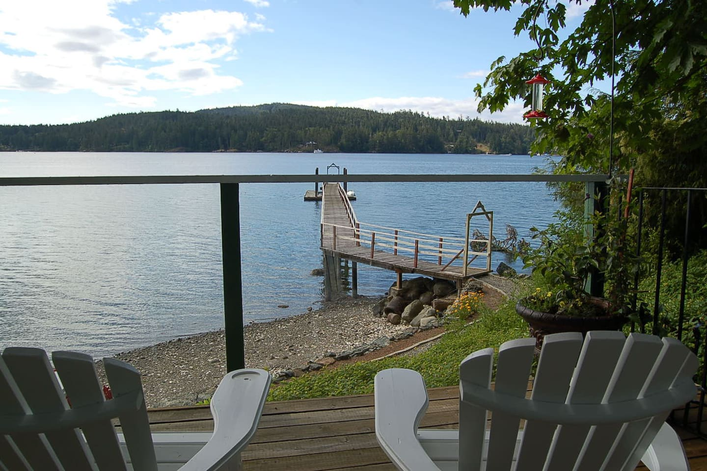 Your view from the cottage's private deck