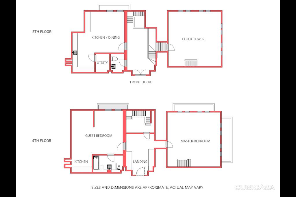 Floor plans of apartment