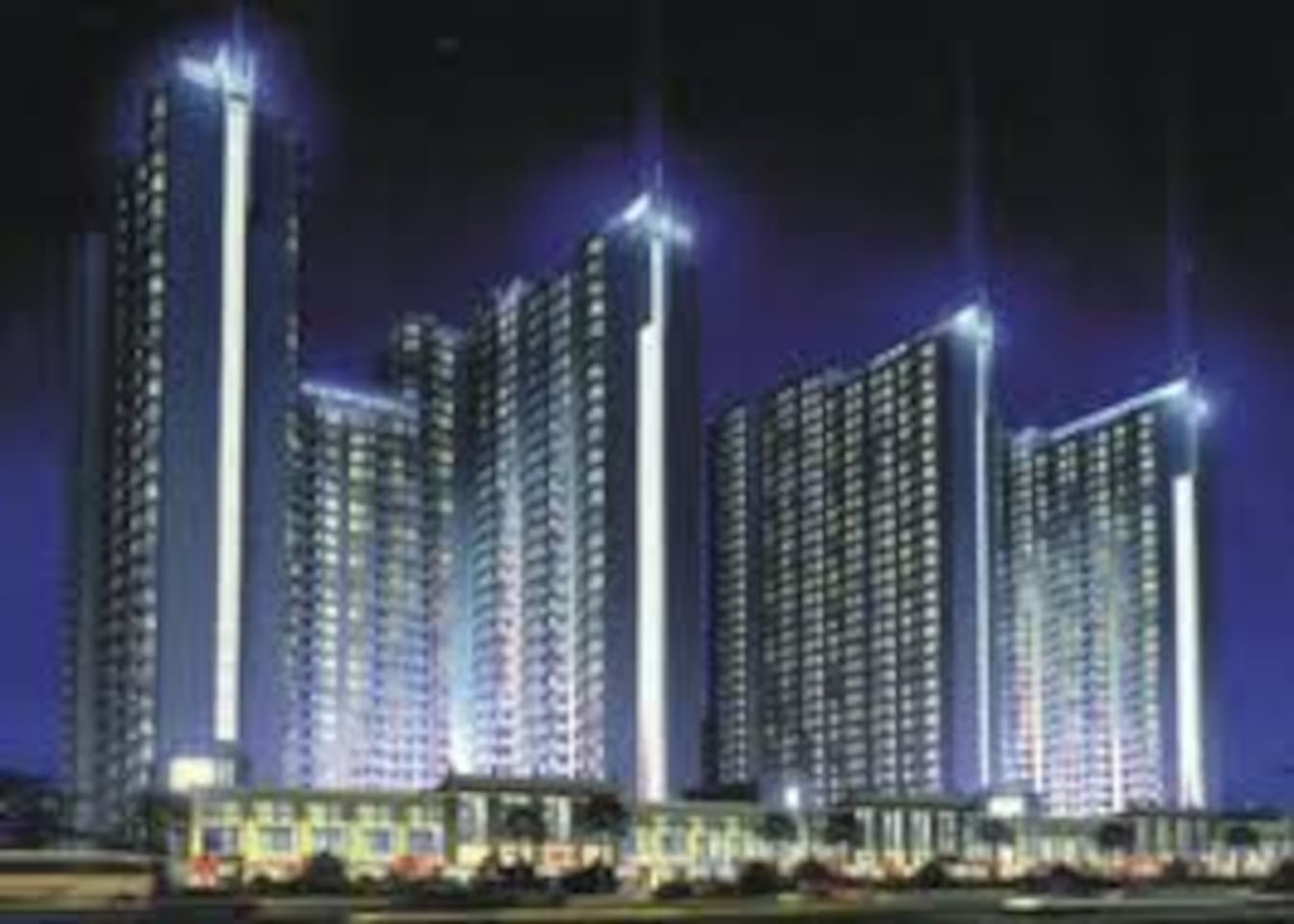 The Sudirman Park Apartments with three towers.
