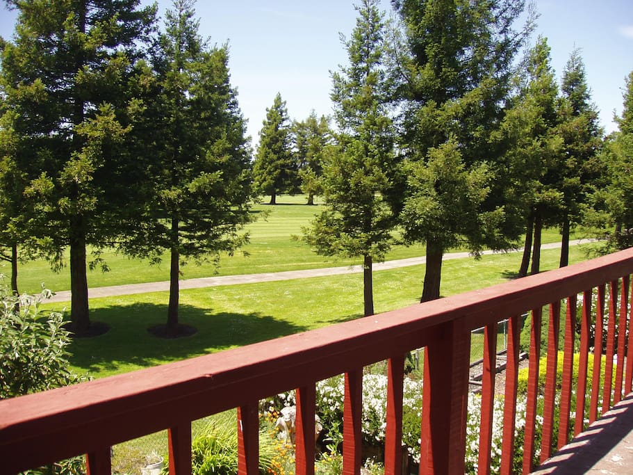 View of Golf Course from Master Bedroom deck