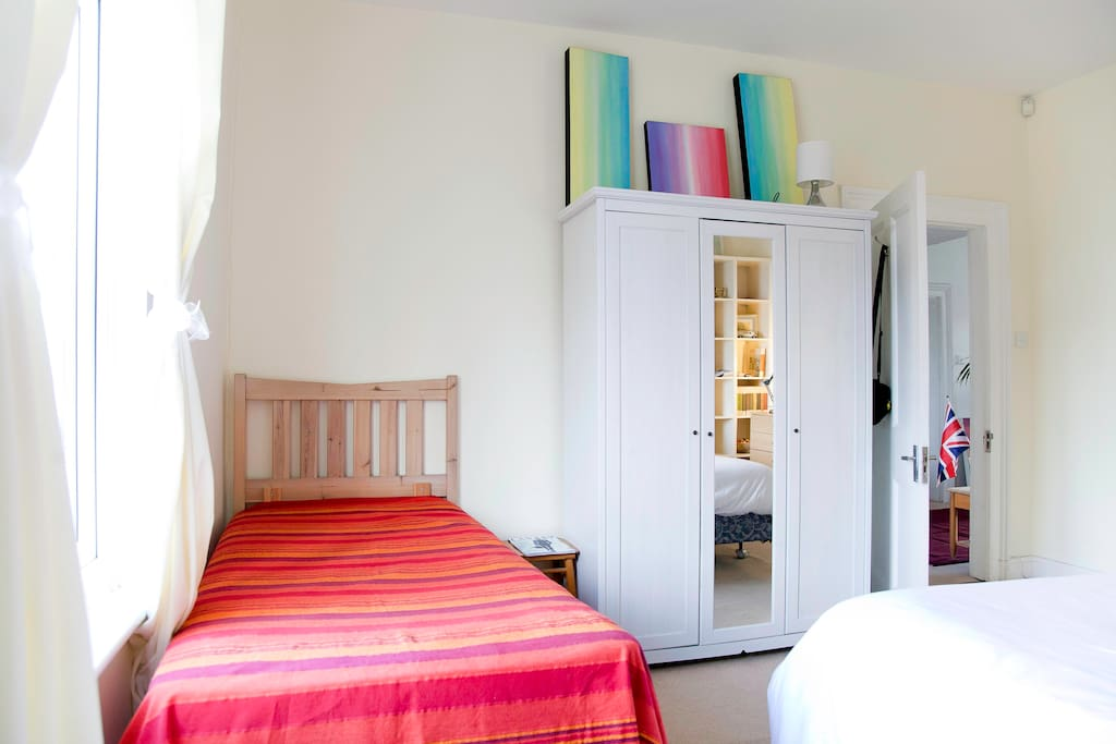 Very large 25sq metre bright and spacious room. Perfect for couples or groups of 3-4. (There are 3 beds).