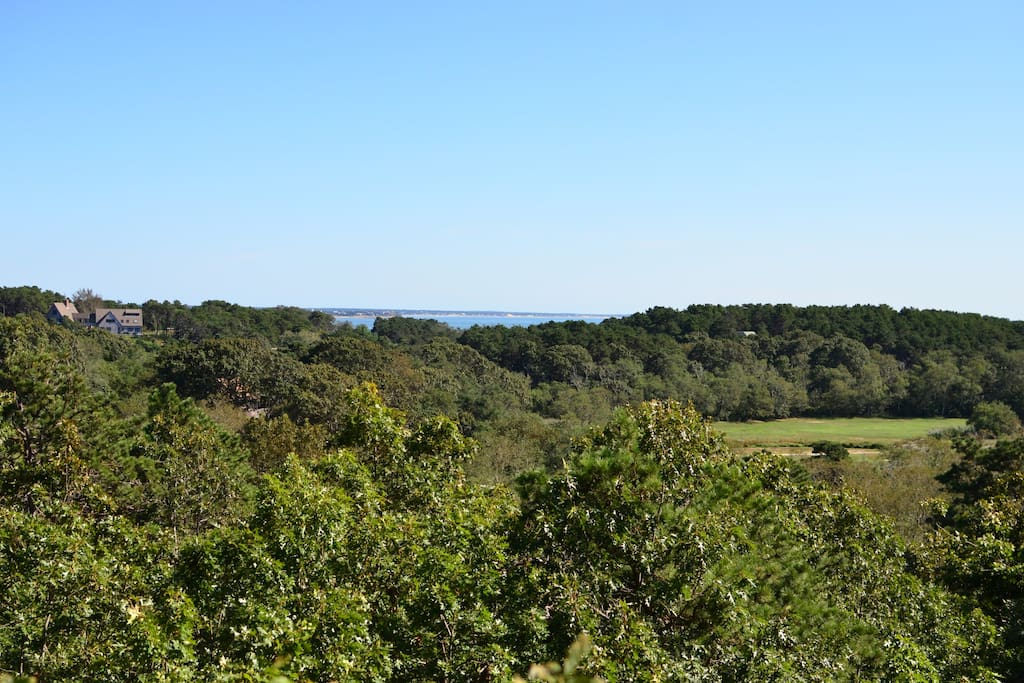 View of bay and golf course from our back deck