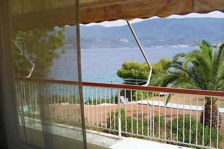 House with balconies, great sea view - Isthmia